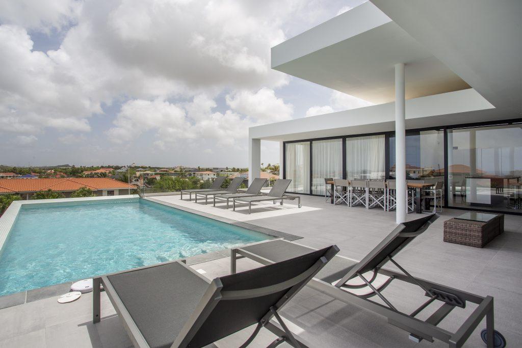 villa dushi bida curacao - 1e verdieping zwembad outdoor